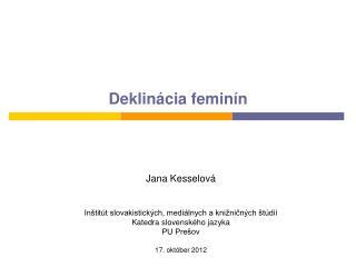 Deklinácia feminín