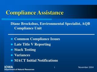Compliance Assistance