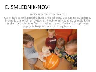 E. SMLEDNIK-NOVI