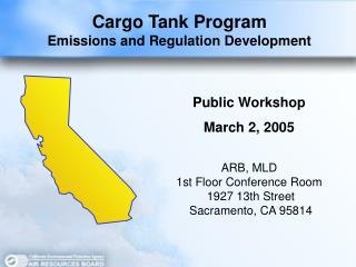 Cargo Tank Program Emissions and Regulation Development