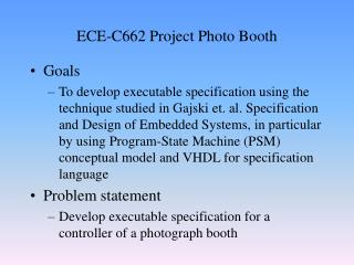ECE-C662 Project Photo Booth