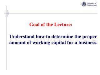 Goal of the Lecture: