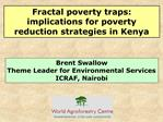 Fractal poverty traps: implications for poverty reduction strategies in Kenya