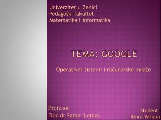 TEMA:  Google