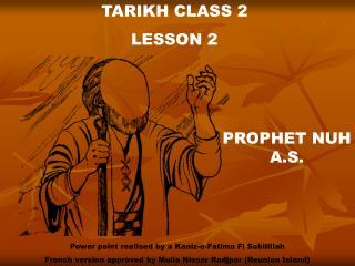 TARIKH CLASS 2 LE SSON 2