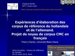Thierry  Chanier , Université Blaise Pascal