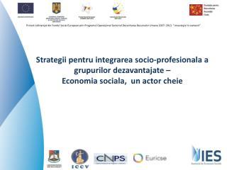 Conditii pentru economie sociala