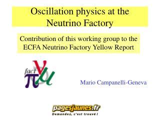 Oscillation physics at the Neutrino Factory