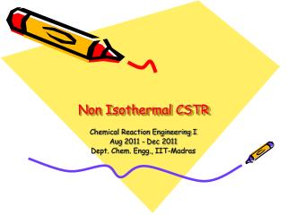 Non Isothermal CSTR