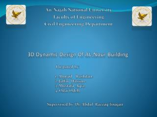 3D Dynamic  D esign  O f AL- N our  B uilding