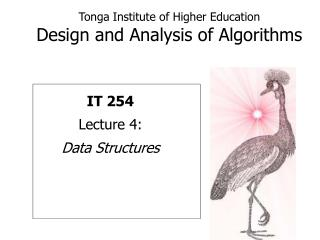 Tonga Institute of Higher Education Design and Analysis of Algorithms