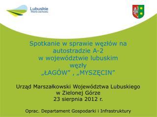 Spotkanie w sprawie węzłów na  autostradzie A-2  w województwie lubuskim  węzły