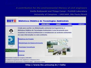 Didatic Library of Environmental Technologies
