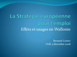 La Stratégie européenne pour l'emploi