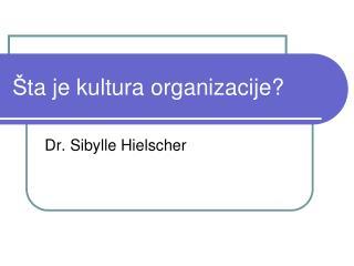 Š ta je kultura organizacije?