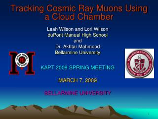 Tracking Cosmic Ray Muons Using a Cloud Chamber