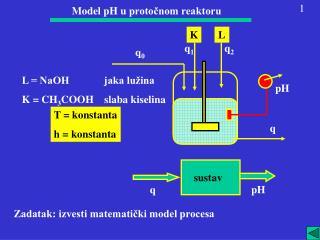 Model pH u  protočnom reaktoru