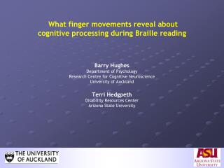 What finger movements reveal about  cognitive processing during Braille reading