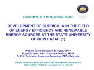 STATE UNIVERSITY OF NOVI PAZAR  (SUNP)