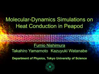 Molecular-Dynamics Simulations on Heat Conduction in Peapod