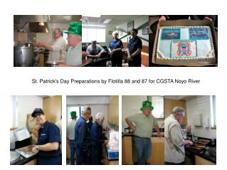 St. Patrick's Day Preparations by Flotilla 88 and 87 for CGSTA Noyo River