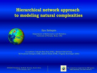 Hierarchical network approach  to modeling natural complexities
