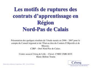 Réunion Inter académique sur l'apprentissage – ROP – 2 février 2010 Reims.