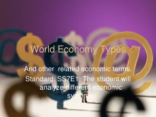 World Economy Types