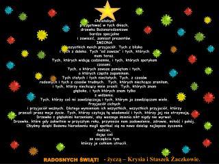 * ** ***** Chciałabym przygotować w tych dniach, drzewko Bożonarodzeniowe