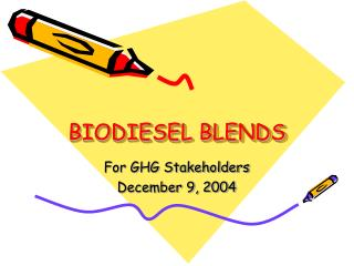 BIODIESEL BLENDS
