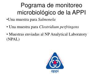 Una muestra para  Salmonela  Una muestra para  Clostridium perfringens
