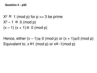 Question 4 – p92