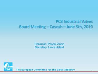 PC3 Industrial Valves Board Meeting – Cascais – June 5th, 2010