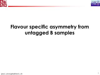 Flavour specific asymmetry from untagged B samples