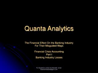 Quanta Analytics