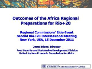 Outcomes of the Africa Regional Preparations for Rio+20