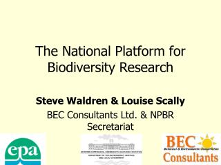 The National Platform for Biodiversity Research
