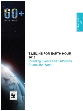 TIMELINE FOR EARTH HOUR 2013 Including Events and Outcomes  Around the World