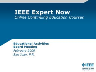 IEEE Expert Now Online Continuing Education Courses