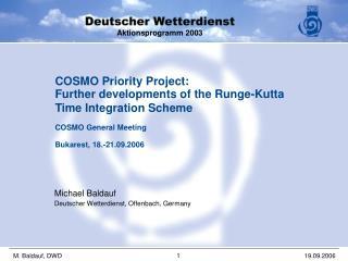 Michael Baldauf Deutscher Wetterdienst, Offenbach, Germany