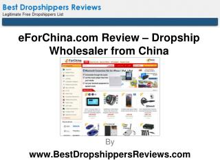 eForChina.com Review – Dropship Wholesaler from China