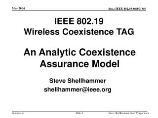 IEEE 802.19 Wireless Coexistence TAG