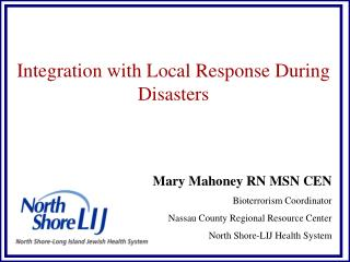 Integration with Local Response During Disasters