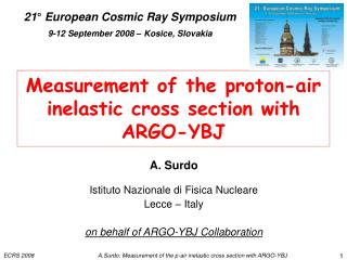 Measurement of the proton-air  inelastic cross section with ARGO-YBJ