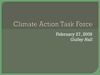 Climate Action Task Force