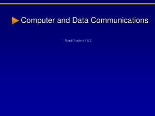 Computer and Data Communications