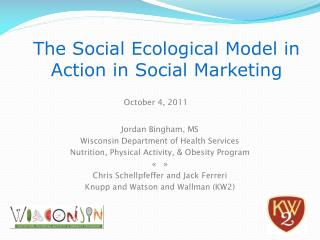 The Social Ecological Model in Action in Social Marketing