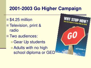 2001-2003 Go Higher Campaign