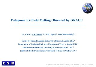 Patagonia Ice Field Melting Observed by GRACE