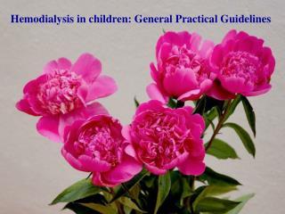 Hemodialysis in children: General Practical Guidelines